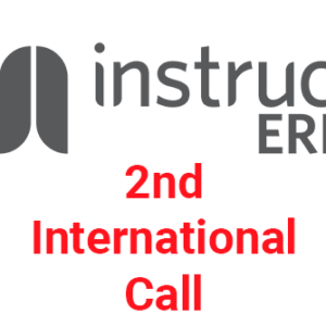 2nd Instruct-ERIC International Call is NOW OPEN